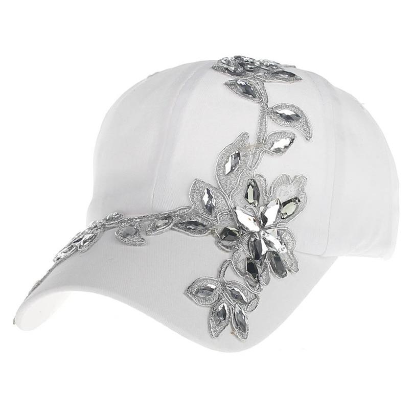 c526b99fe13 New fashion beauty Flower Diamond snapback caps wholesale pretty design  Adjustable baseball cap hats for Women  04POP May2-in Baseball Caps from  Apparel ...