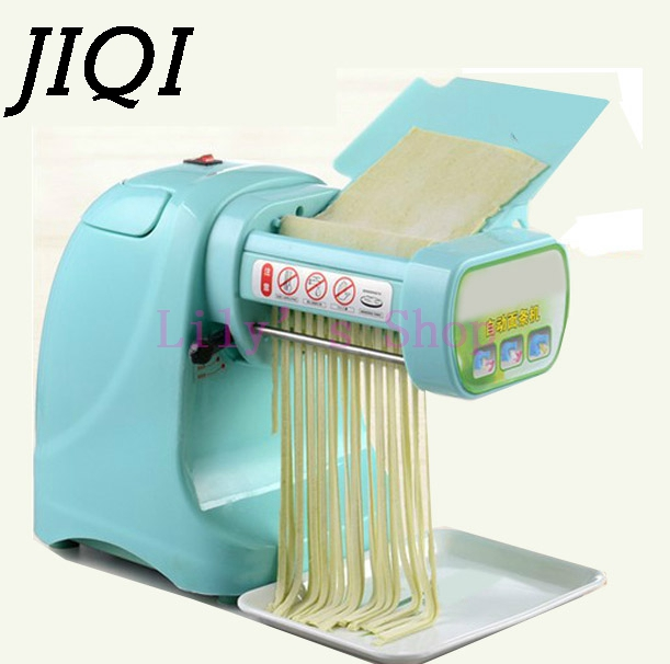 Household electric noddles pressing machine commercial pasta maker machine small dumpling huntun wrappers EU US plug adapter jiqi stainless steel household rolling dough pressing maker manual noddle pasta machine hand dumpling wrappers wonton machine