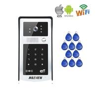 RFID / Code / Keypad Wireless Wifi Video Door Phone Waterproof Doorbell Intercom for Phone Remote Monitor / Unlock Free Shipping