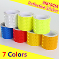 Free Shipping 3m*5cm Reflective Strips Car Stickers for car-styling Motorcycle decoration Automobiles Safety Warning Mark Tape