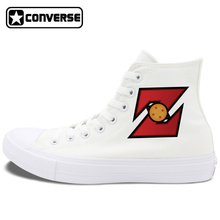 Unisex Converse Chuck Taylor II All Star Shoes Anime Dragon Ball Z Black White Canvas Sneakers High Top Skateboarding Shoes