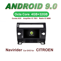 Navirider GPS Android 9.0 bluetooth stereo 4 Core 8 Core car DVD player for CITROEN C4 head unit autoradio accessories