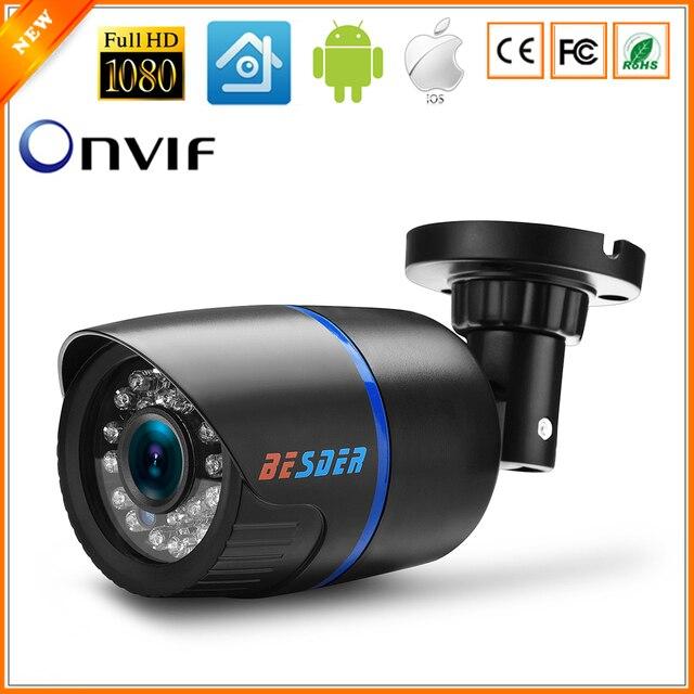 BESDER 2.8mm Large Caméra IP 1080 p 960 p 720 p Alerte Email XMEye ONVIF P2P Détection de Mouvement RTSP 48 v POE Surveillance CCTV En Plein Air