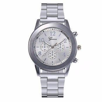 Hot Unisex Rose Gold & Silver Watch Luxury Fashion Women Men Stainless Steel Quartz Wristwatches Gift Clock Montre Femme 1