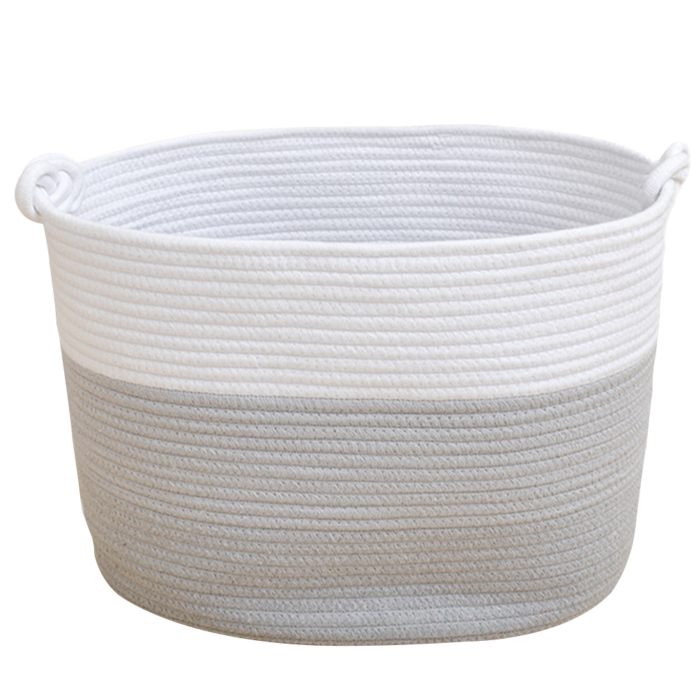Toys Laundry Baskets Cotton Rope Decorative Buckets Home Storage Books Eco-friendly Assorted Colors(China)