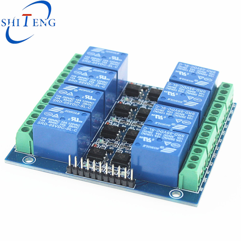 5 v 8 road 10 a optical coupling isolation relay module rs232 to rs485 converter with optical isolation passive interface protection