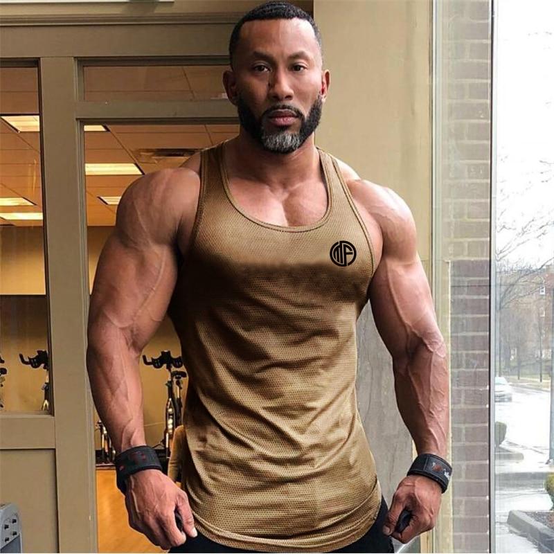 New Brand Clothing Summer Singlets Mens Tank Tops Shirt,Bodybuilding Equipment Fitness Men's Mesh Stringer Tanktop Vest