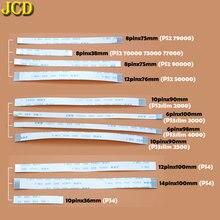 Jcd 2 pcs ps3 슬림 ps2 10pin 12pin 14pin 리본 플렉스 케이블에 대 한 pcb 보드 및 전원 스위치 플렉스 케이블 충전 ps4