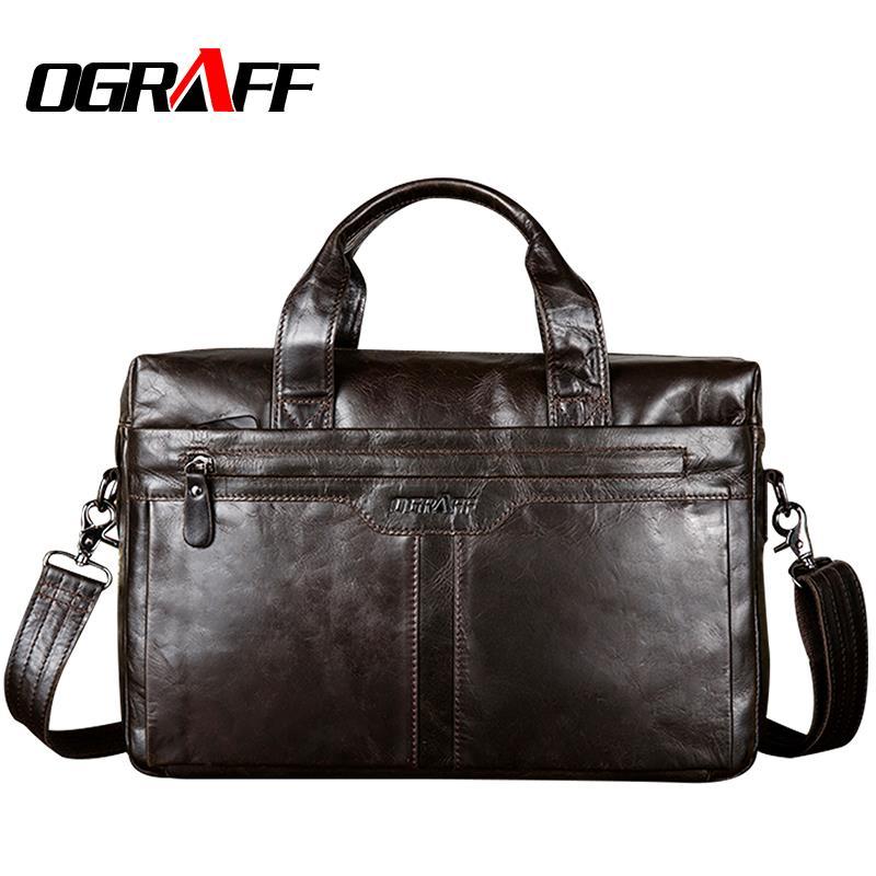 OGRAFF en cuir véritable sac pour hommes sacs à main et sacs à main Messenger sacs à bandoulière célèbre marque hommes sacs à main designer de haute qualité