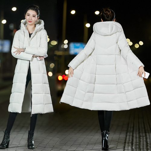 Women X-long Parkas M-6xl Wateproof Windproof -25degrees Sintepon Winter Basic Style Solid Slim Plus Size Hooded Jacket Coat