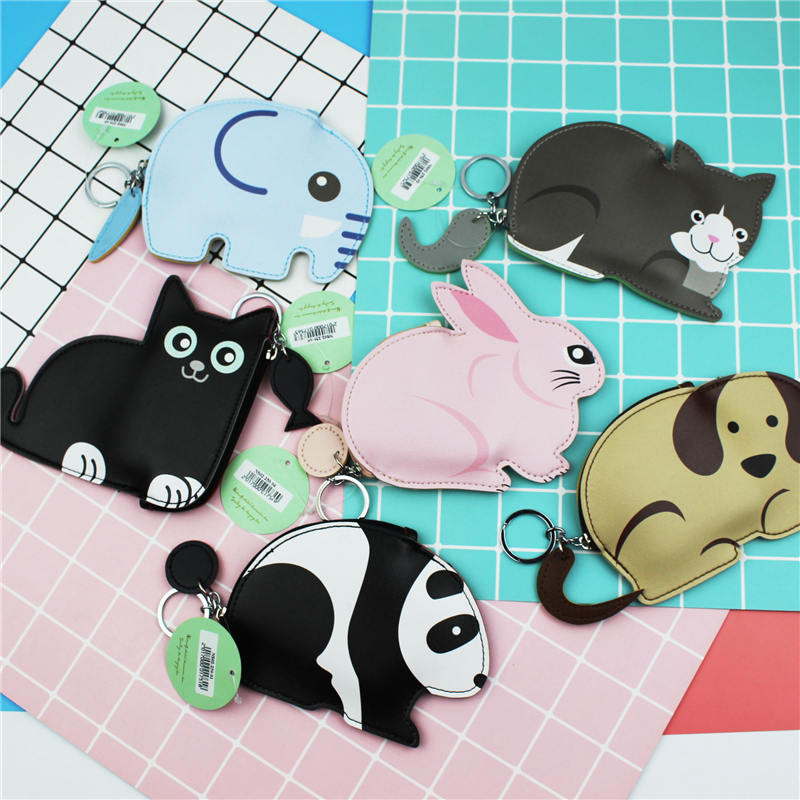 PACGOTH New Japanese and Korean Style PU Leather Coin Purse Kawaii Animal Shape Cat Simple Student Card Coin Wallet & Holder 1PC кружка printio весна весна