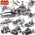 743 unids/set diy educativos 8 en 1 modelo de bloques de construcción de armas militares armados buque tanque de combate montaje ladrillos juguetes para niños regalo
