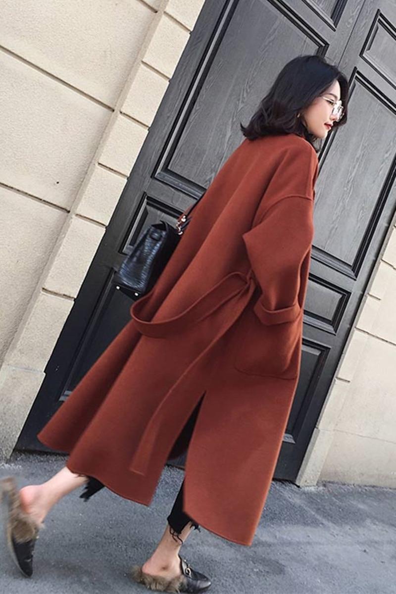 red Dames Cachemire Qualité Laine white Surdimensionné Épaissir Haute Black Long Mélanges Solide Chaude Femmes Hiver Manteaux De Automne Longues C301 Mode Veste 0pWav1qxC