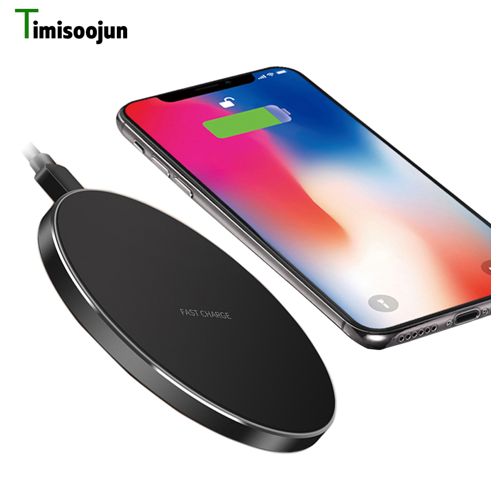 TIMISOOJUN 10W Qi Wireless Charger for iPhone X/8 Visible Fast Wireless Charging for Samsung Galaxy S9/S9 plus S8 Note 8 Xiaomi