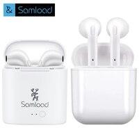 Samload I7 TWS True Wireless Bluetooth Earbuds Stereo Headphones Mini In Ear Headsets Sports Earphone Earpiece