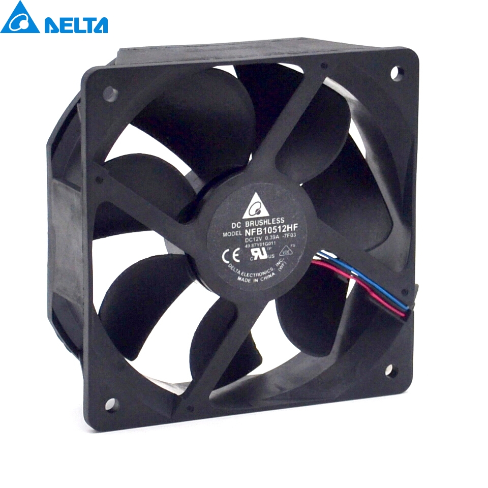 Free shipping original Delta Cooling fan NFB10512HF-7F03 49.87Y01G001  12V 0.39A  3 wires  projector  5pcs/lot new original delta 12cm tha1248be 12038 48v 2 6a cooling fan