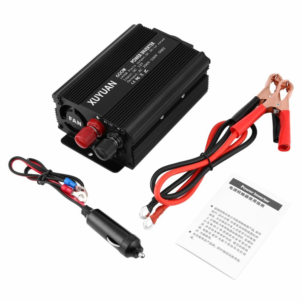 Professional 600w Usb Power Inverter Dc 12v To Ac 220v With Led Indicator Car Converter For Household Appliances To Prevent And Cure Diseases