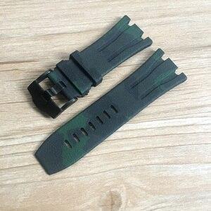 Image 2 - Audemars Piguet bracelet de montre camouflage 30mm en Silicone, noir blanc gris bleu rouge vert, boîtier AP 26400 44mm