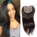 Wholesale Price 6A Silk Base Closure Free/Middle/Three Part Malaysian Virgin Hair Straight 4x4 Silk Base Size With Baby Hair