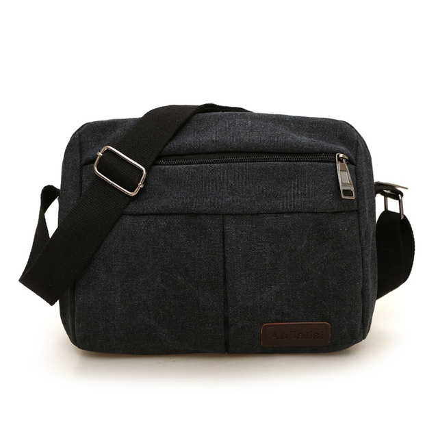 e11db5e910 College style canvas messenger bag 100% cotton Contracted joker men s  leisure bag Light and green flap bag fashion shoulder bag