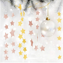 Banners Paper Garland Home-Decoration Birthday-Party String Hanging-Paper Star Bunting