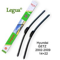 Legua Car Windscreen Wiper Blade For Hyundai GETZ 2002 2009 14 22 Car Wiper Rubber Soft