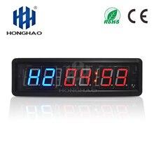 Honghao светодиодный интервал обратного отсчета таймер для кроссфита для домашнего спортзала с программируемым интервалом