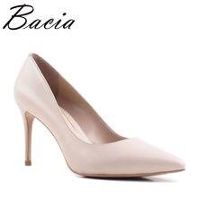 aa5aad4b5 Bacia/новые женские туфли-лодочки из натуральной овечьей кожи на высоком  каблуке, модные