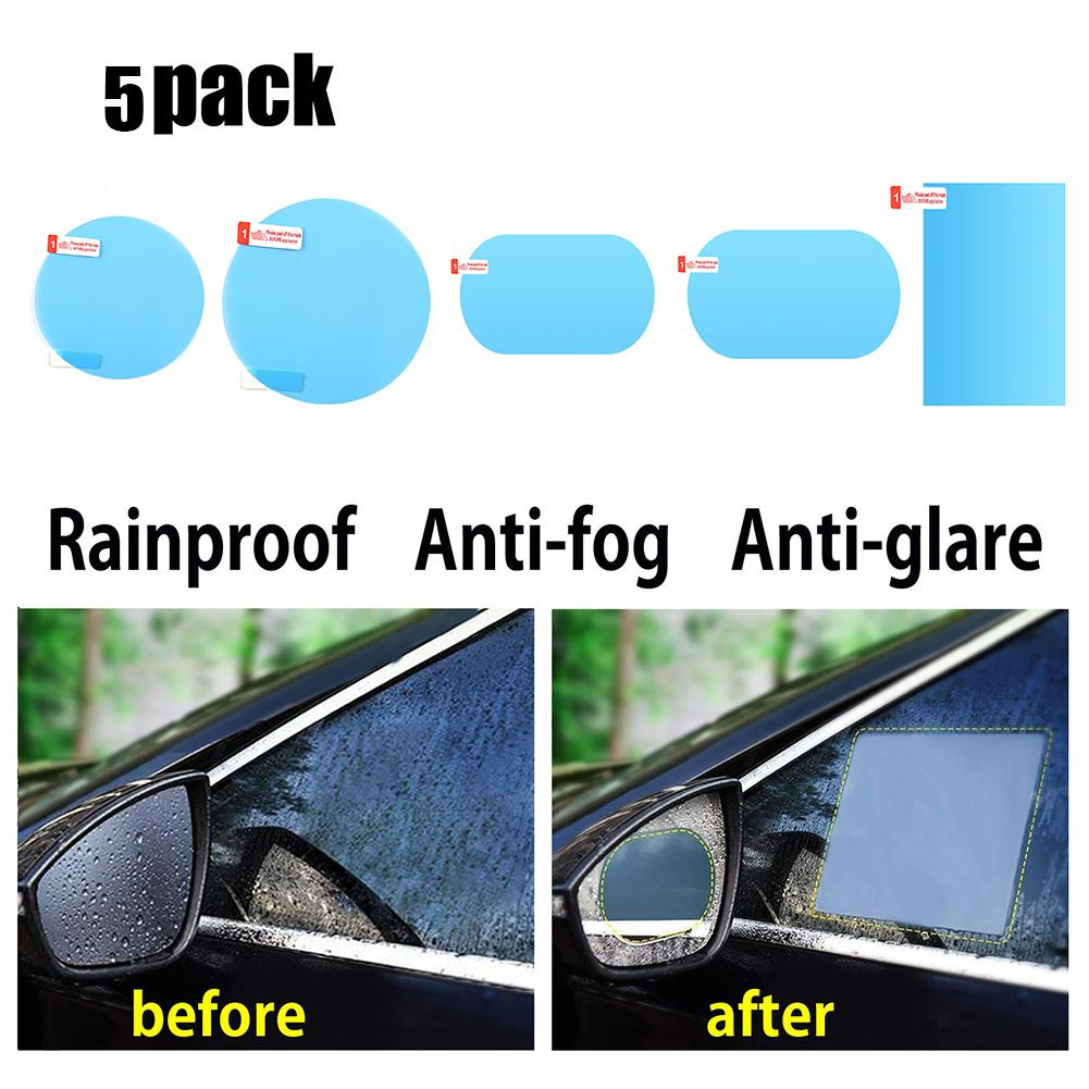 4Pcs Auto Car Rearview Mirror Glass Film Waterproof Anti-Fog Rain-Proof Window