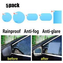 2 pièces voiture rétroviseur étanche Film Anti buée étanche à la pluie autocollant fenêtre latérale Film de verre Auto étanche pluie dissolvant autocollant