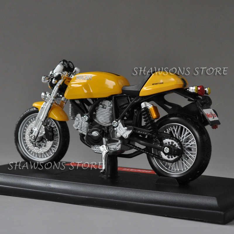 دراجة نارية مصغرة نسخة طبق الأصل من طراز Maisto 1:18 Ducati Sport 1000