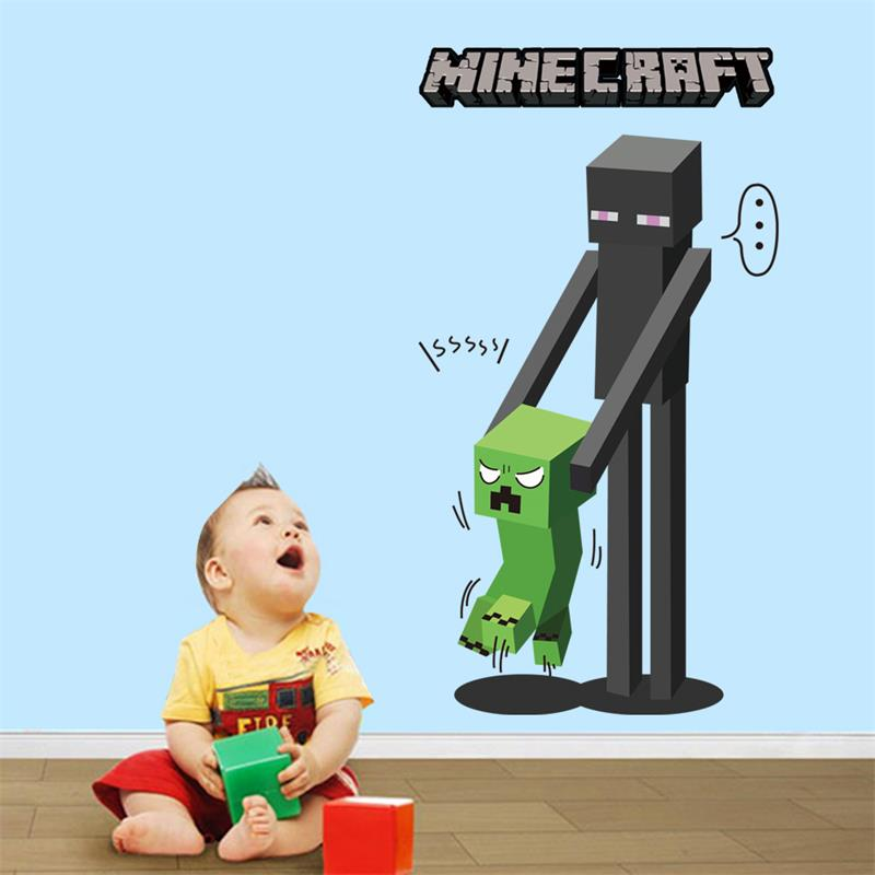 Minecraft wall stickers picture more detailed picture for 3d home decoration games