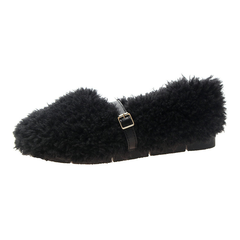 Nueva Llegada Mujeres De Suave Slip Hebilla Zapato Las Para Casual Pisos Plano Moda Invierno Zapatos Beige Grils Dulce Tacón negro on 2019 Mujer caqui Piel 5dEqXfw5n