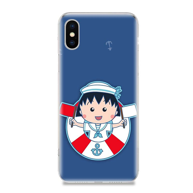 Sakura Momokos Anime Phone Case For iPhone 7 8 6 6S Plus X 10 Ten XS MAX XR 5S SE Art TPU Covers Coque Capa Cas Shell in Half wrapped Cases from Cellphones Telecommunications