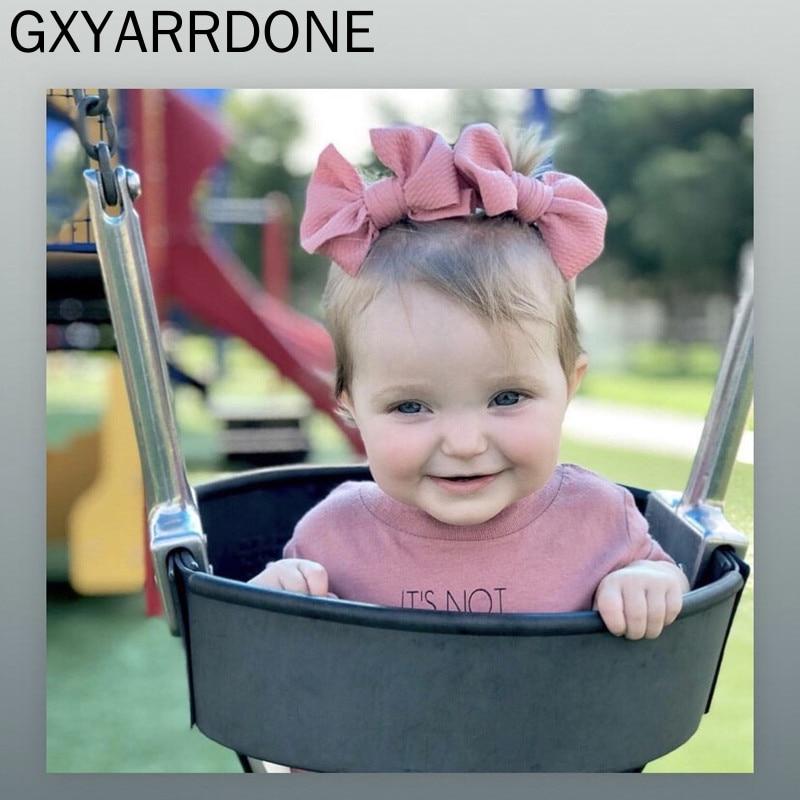 2pcs/set Baby Headband DIY Big Hair Bow  Headband Hair Bow Clips For Kids Hair Accessories Hairpins Boutique Fabric Bows