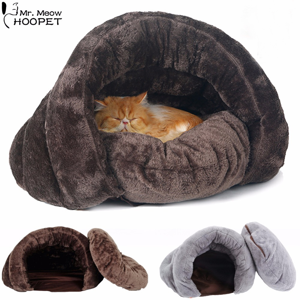 Dog Cat Self Warming Soft Sleeping Bag Kitten Snuggle Sack Bed Cuddly Cave Pet House Blanket