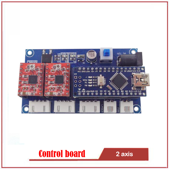 GRBL control board DIY laser engraving machine micro 2 axis stepper motor drive control board Engraving