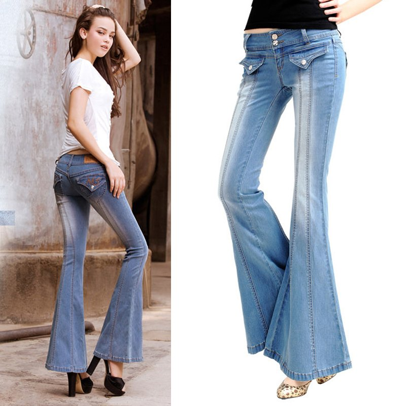 Compare Prices on Bell Bottom Blue Jeans- Online Shopping/Buy Low ...