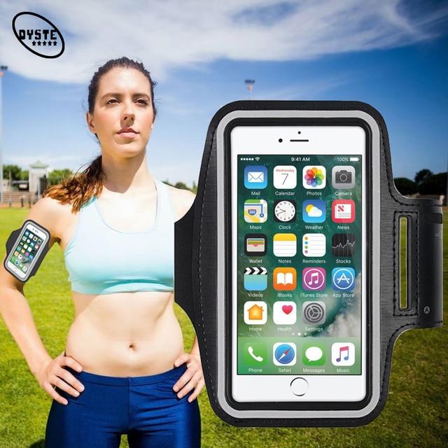 Бег нарукавная повязка Brassard телефон для iPhone xs max x xr 7 8 6s плюс упражнения чехол тренажерный зал запястье ремень чехол сотовый телефон аксессуары