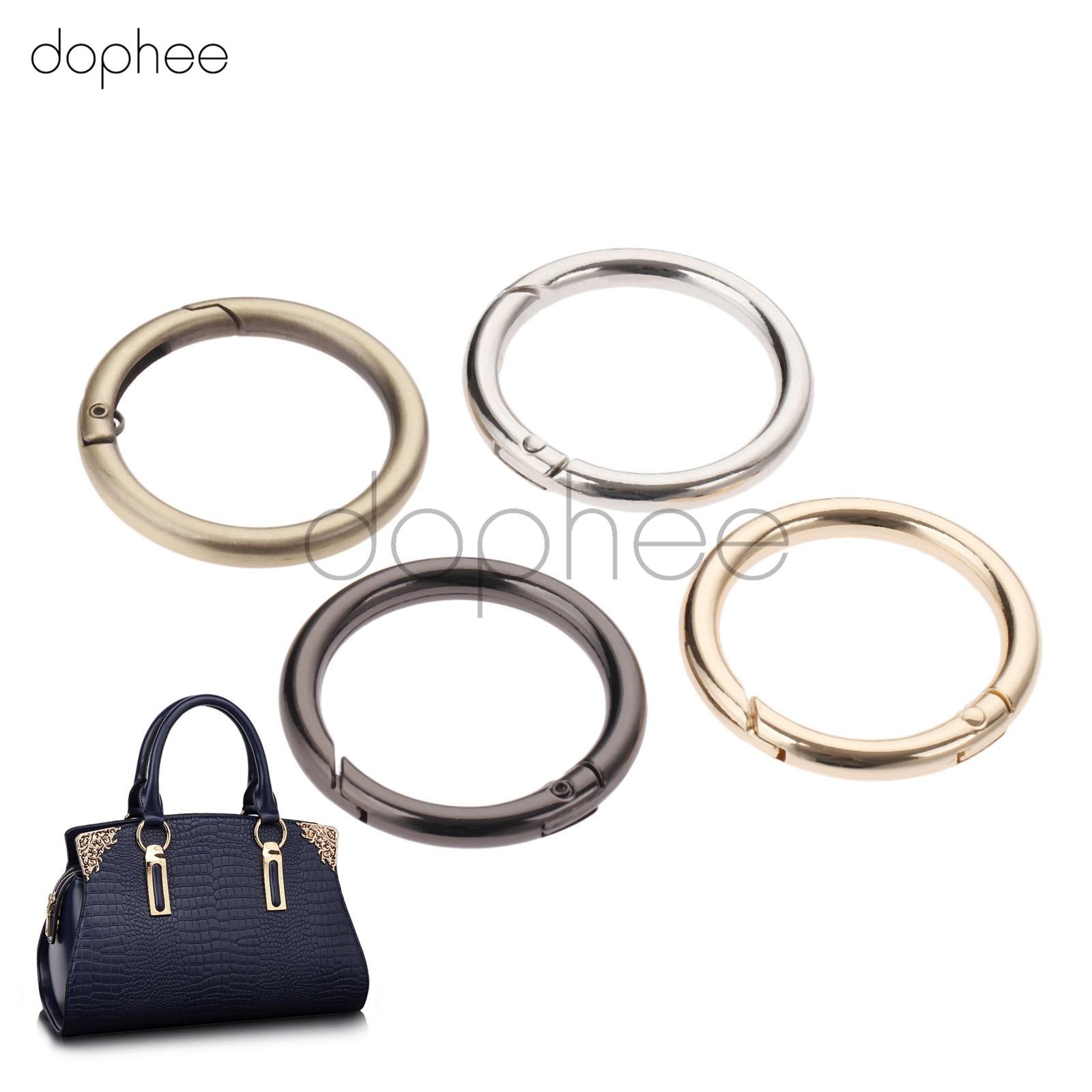 Dopee, 5 шт., 32 мм, пружинные уплотнительные кольца, 4 цвета, открывающийся брелок, кожаная сумка, ремень, собачья цепь, пряжки, застежка, аксессуары для DIY