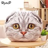 HziriP New 3D Simulation Creative Stuffed Plush Toys Cute Cartoon Cats Pillow Cushion Dolls For Children