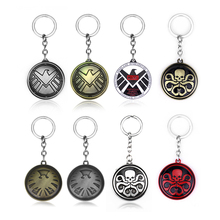 10pcs/lot Marvels Agent of Shield Inspired Badge Alloy Keychain