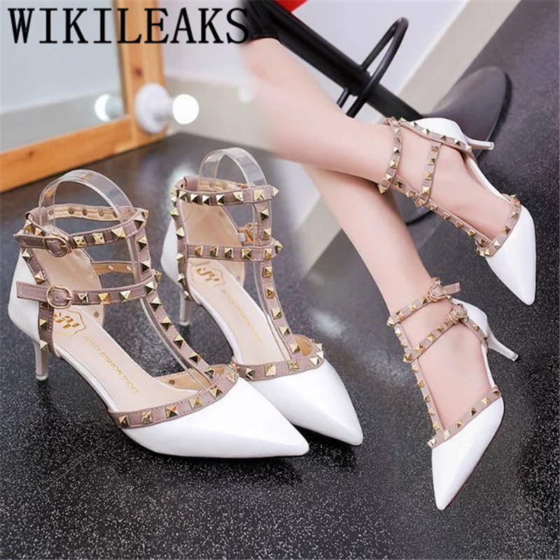 Valentine Shoes White High Heels Dress Shoes Women Stiletto Heels Fetish High Heels Sexy Party Shoes For Women Ladies Pumps Buty