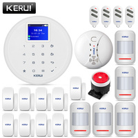 KERUI G17 1 7 zoll Kosten effektive Einbrecher Alarm Kits Wireless Home Security GSM Alarm System iPhone IOS Android APP control|Alarm System Kits|Sicherheit und Schutz -