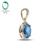 2.80CT!! sólido 14 k del Oro Amarillo Natural Topacio Azul y Diamante Colgante de Joyería Al Por Mayor