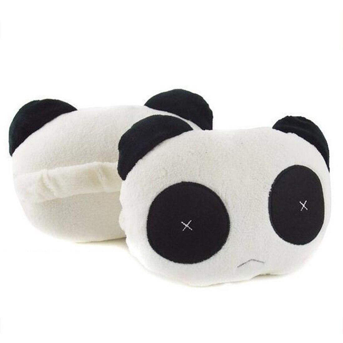 Dewtreetali Cute Cartoon Panda Plush Auto Waist Cushion Car Seat Neck Rest Headrest Pillow