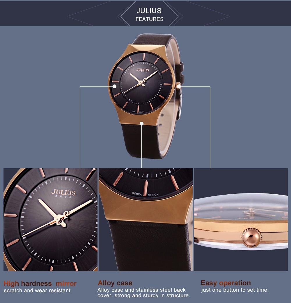 Julius Men Watch Stainless Steel Band Analog Display Quartz Wristwatch (6)