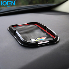 LOEN 1PCS Black Anti-Slip Silica Gel Car Dashboard Sticky Pad Mat Anti Non Slip Phone Holder Auto Interior Accessories