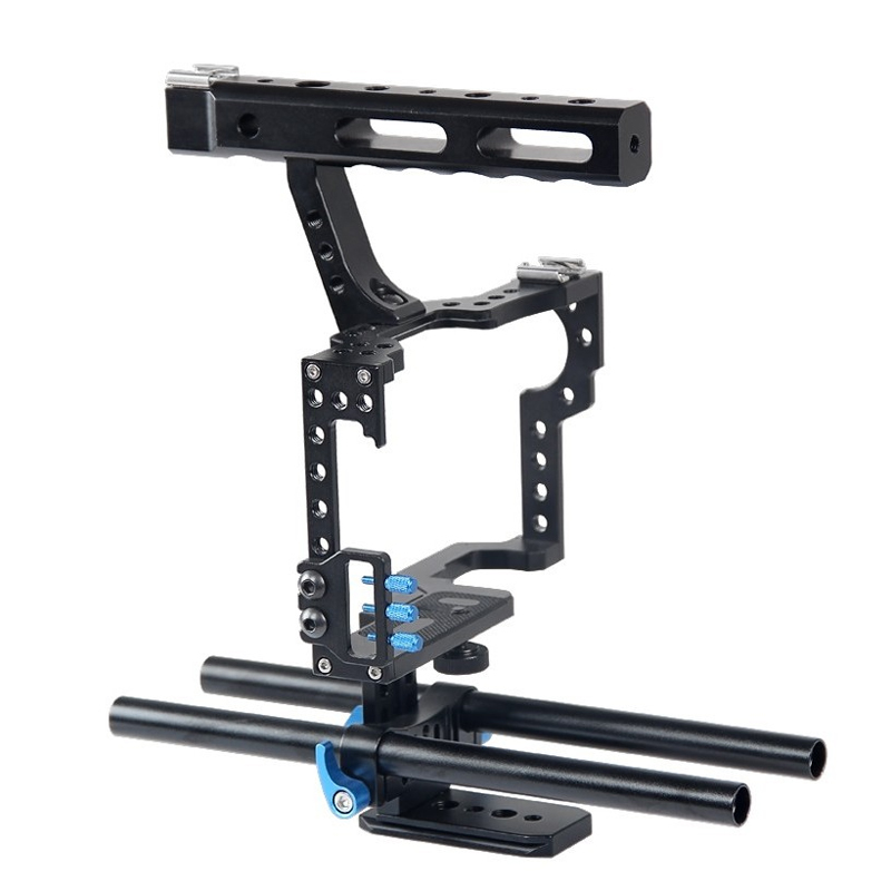Camera Cage Protecting Case Mount Stabilizer and Top Handle Grip Cage kit for GH4 A9 Sony A7II A7R A73 A6300 A6000 Panasonic