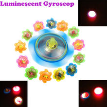 Magic Light Vinger Knipperende Speelgoed Springen Spinner Juguetes Speelgoed Grappige Led Fidget Spinner Stress Gift Gyroscop Brinquedos(China)